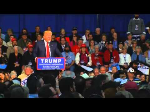 Donald Trumps Stops in Anderson, Addresses Thousands of Supporters