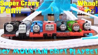 Toy Trains! We Love Thomas & Friends! Icy Mountain Drift Trackmaster Set Playtime Fun!