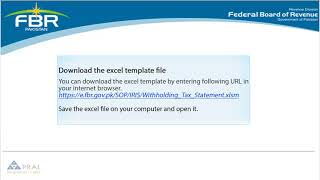 How to File Withholding Tax Statement in IRIS on FBR Website - Easy Guide