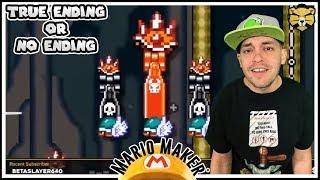 Working Hard For The True Ending! Mario Maker