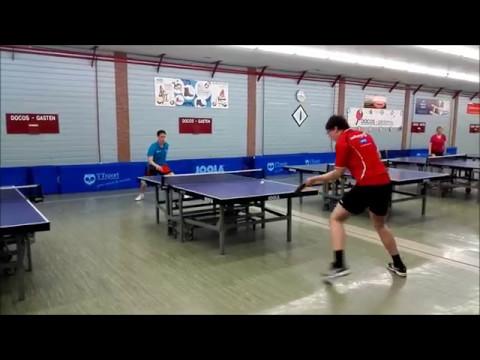 Bernou Wagenaar - Michael Bultema, Docos-Licentietoernooi, halve finale D lic