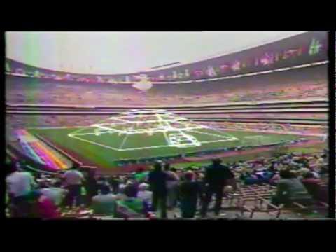 Mundial futbol Mexico 86 Inauguracion