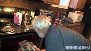 Grandpa and Bridgette Love Oysters..