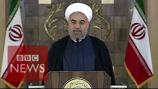 Iran nuclear deal: Hassan Rouhani reaction - BBC News