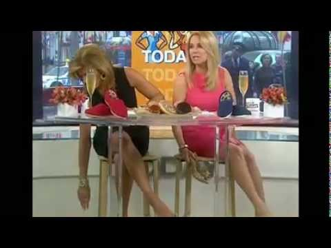 TV ladies showing off legs and feet