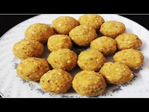 Moong Dal Ladoo   Indian Sweet   Instant Ladoo Recipe
