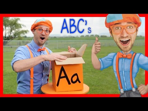 Learn The Alphabet With Blippi   ABC Letter Boxes