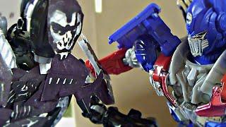 Transformers Age of Extinction Stop Motion: Optimus Prime VS Lockdown-The Final Battle