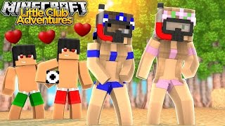 Little Kelly & Little Carly GO TO THE BEACH!!! - Minecraft Little Club Adventures