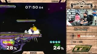 SJ2 - Axe(Pickachu) vs. Scrubaroo(Peach) - Winners - Melee