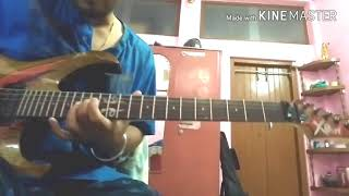 Mon majhi (Arijit Sing)lead guitar solo lesson (first interlude)..