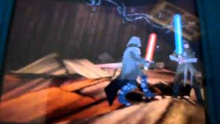 Star Wars The Force Unleashed DS First Jedi Stands Still During Saber Lock
