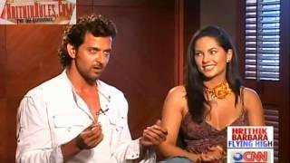 Hrithik - Barbara Flying High - InterView With Rajeev Masand Part 1