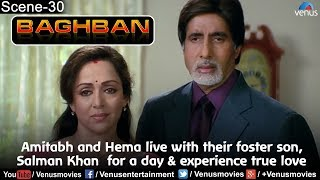 Amitabh and Hema live with their foster son, Salman Khan  for a day & experience true love