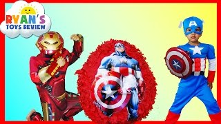 GIANT EGG SURPRISE OPENING Captain America Civil War Iron Man The Avengers Surprise Toys Kids Video