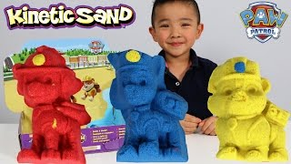 Paw Patrol Kinetic Sand Playset Unboxing DIY Paw Patrol Characters Sand Building Fun Ckn Toys