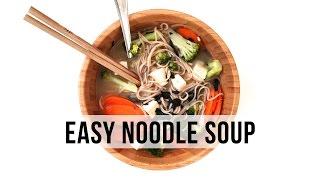 One Pot Veggie Noodle Soup   VEGAN & EASY