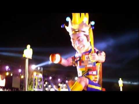 Carnaval Nice 2012 night opening - Le Roi du Sport et la Reine (nuit)