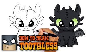 How to Draw Toothless | How to Train Your Dragon