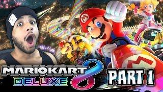Mario Kart 8 Deluxe - 200CC Mushroom Cup & BLACK INKLING w/Cobanermani456 (4K 60FPS)