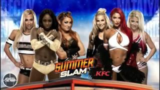 ► 2016 Carmella, Naomi, Becky  Lynch vs Natalya, Eva Marie, Alexa Bliss Official WWE SummerSlam Matc