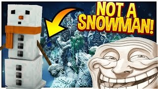 Minecraft Trolling: DISGUISING AS A SNOWMAN! (Minecraft Pranks)