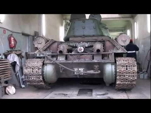 Próba Techniczna Czołgu T34 odpalanie.avi