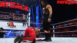 WWE PayBack 2016: Roman Reigns VS AJ Styles - (WWE World Heavyweight Championship)