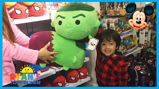 Disney Store Family Fun Adventure with Disney Toys Cars SuperHeroes Mickey Mouse Ryan ToysReview