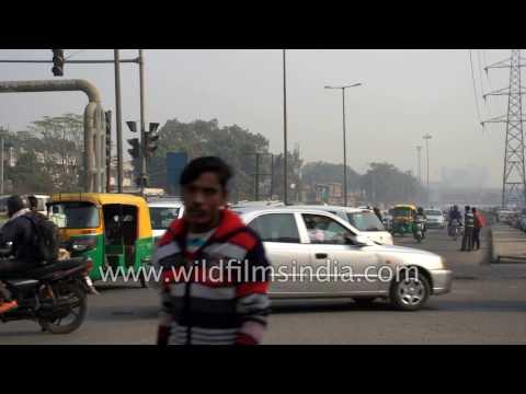 Traffic around Okhla Industrial area, Delhi