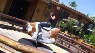 Sunny Leone Rides a Bull at Universal Studios   HD