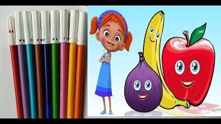 Elifin Düşleri meyve sebze boyama oyunu, Konuşan meyveler