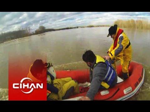 Kurtarma ekibinin kurtarılması kamerada