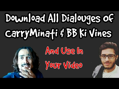 Xxx Mp4 Download All Dialogues Of CarryMinati BB Ki Vines Use In Your Video Hindi RTR👍 3gp Sex