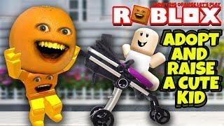 Roblox: ADOPT AND RAISE A CUTE KID 👶 🍊 [Annoying Orange Plays]