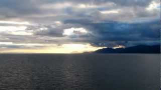 RFH  2012-12-22 inctedible sunset on Navimag from Puerto Montt to Puerto Natales #1