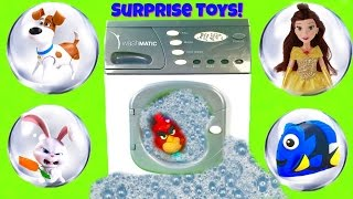 Magical Washing Machine Toys! Hide and Go Seek with Max, Snowball, Dory and Angry Birds Red