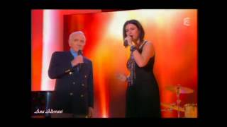 Laura Pausini & Charles Aznavour☆¸•★¸•´♫ Paris Au Mois D'août (Parigi In Agosto) LIVE HD