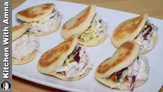Mini Pocket Shawarma Without Oven On Tawa - Kids Lunch Box Recipe - Kitchen With Amna