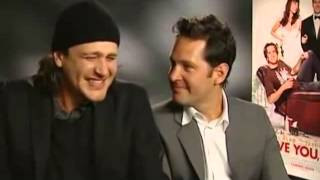 Jason Segel and Paul Rudd Are So High During Interview
