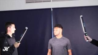 Nike trials and photoshoot with Alex Oxlade-Chamberlain