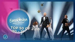 TOP 50: Most watched in 2018: 30 TO 21 - Eurovision Song Contest