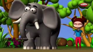 Elephant Rhyme in Bengali | হাতি বাংলা গান | Bengali Rhymes For Kids | Bengali Animal Rhymes in 3D