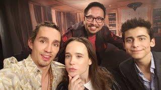 The Umbrella Academy Interview: Ellen Page, Robert Sheehan, Aidan Gallagher