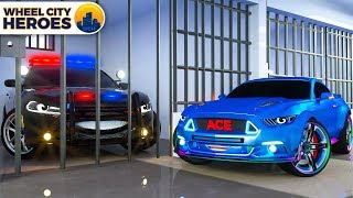 Police Car Sergeant Lucas Catches the Bad Car - Wheel City Heroes Cartoon for Kids