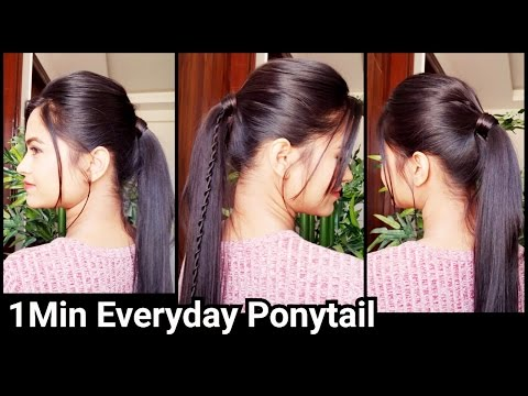 1 Min PONYTAIL with PUFF//Summer Hairstyles for school/college/work//Indian hairstyles