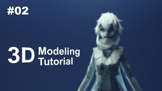 [Part 2/ 40] Anime Character 3D Modeling Tutorial II - Basemesh