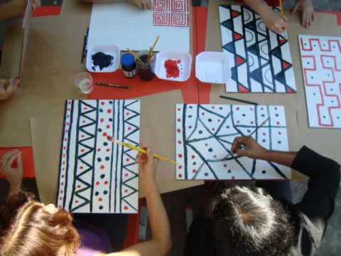 Oficina com os professores Dança e Grafismo Indígena