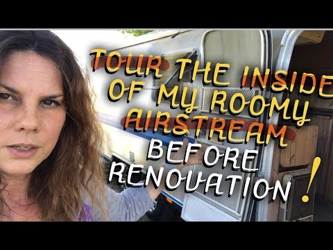TOUR INSIDE MY AIRSTREAM BEFORE RENOVATIONS BEGIN