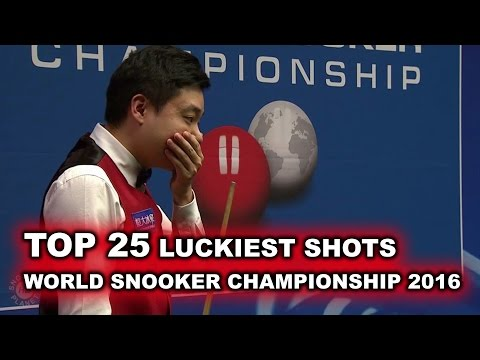 TOP 25 LUCKIEST SHOTS World Snooker Championship 2016